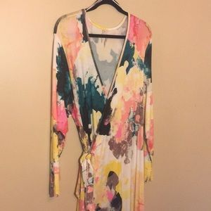 Brand New Watercolor Maxi Dress